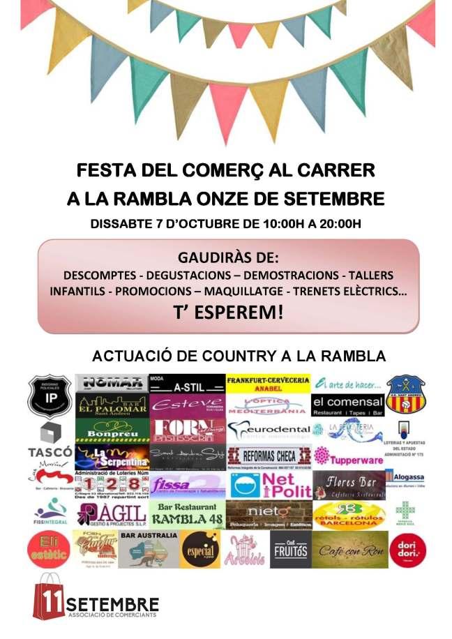 FESTA DEL COMERÇ AL CARRER OCTUBRE 2017